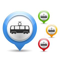 Tram Icon vector image vector image