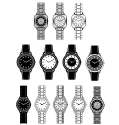 Image of a female watch vector