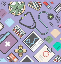 Medicine background with medical equipment vector