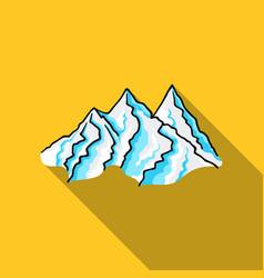 Mountain range icon in flate style isolated on vector