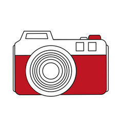 Color silhouette image analog camera with flash vector