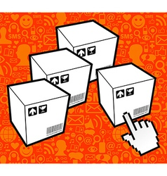 Logistic box icon vector
