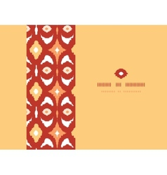Red and gold ikat geometric frame horizontal vector