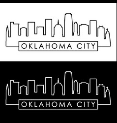 Oklahoma city skyline linear style vector