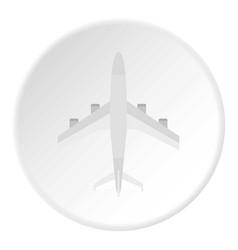 plane icon circle vector image
