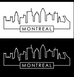 Montreal skyline linear style editable file vector