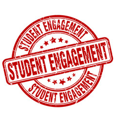 Student engagement red grunge stamp vector
