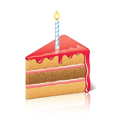 Object piece of cake jam vector