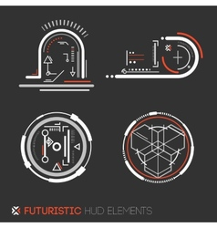 Futuristic hud elements vector