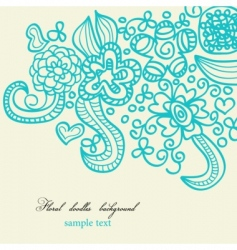 Floral doodles background vector