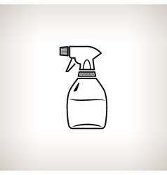 Silhouette sprayer on a light background vector