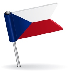 Czech pin icon flag vector