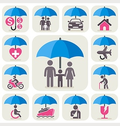Insurance umbrella vector