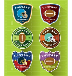 Fantasy American Football Badge Set vector image