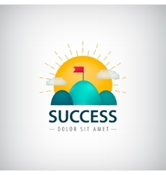 Success creative logo icon concept 2 vector