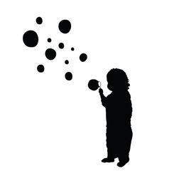 child make bubble silhouette vector image