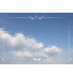 Triangular clouds in the sky backdrop vector