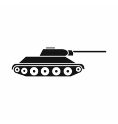 Tank icon simple style vector