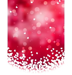 Abstract heart bokeh background vector image