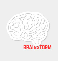 Brainstorm with white outline brain icon vector