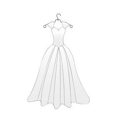 bride cartoon icon image vector image