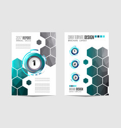 Brochur templat brochure flyer template design vector