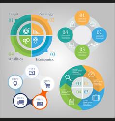 Business diagram infographics set vector
