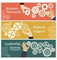 Business teamwork gears vector image vector image