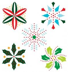 chrristmas snowflake vector image vector image