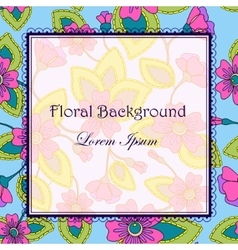 Colorful background with flowers vector image vector image