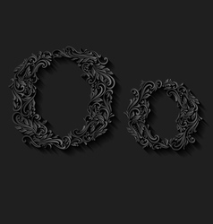 Decorated letter o vector image vector image