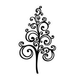 Decorative Christmas Tree vector image