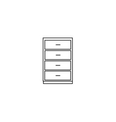 Dresser icon drop shadow chest of drawers vector