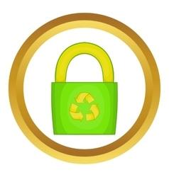 Eco bag icon vector