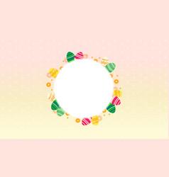 Frame of easter egg theme vector