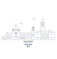 Galway city skyline vector