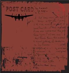 grunge postcard design vector image