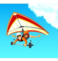 Hang gliding tandem vector image vector image