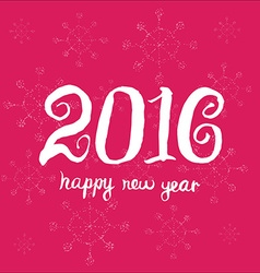Happy new year 2016 Universal Hand drawn vector image