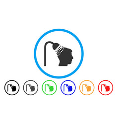 Head shower rounded icon vector