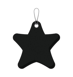 Isolated black and grunge star label design vector