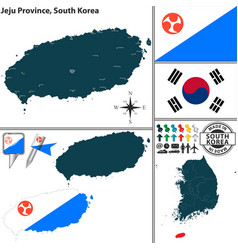 jeju province south korea vector image vector image