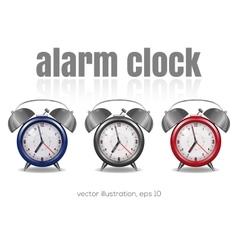 Multicolored alarm clocks vector image