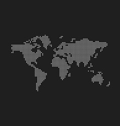 pixel map of world vector image