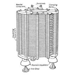 Reactor vintage vector