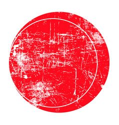 red circle grunge stamp vector image