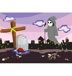 Scary scene vector image