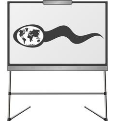 spermatozoon in easel vector image