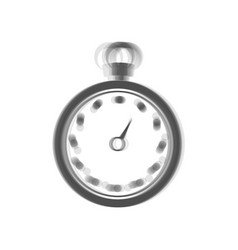 Stopwatch sign gray icon vector