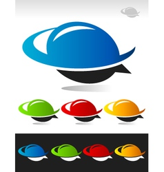 Swoosh bubble logo icon vector